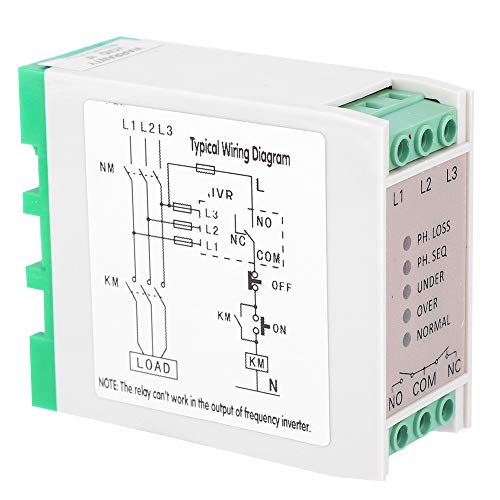 AC 480V 3 Phase Circuit Protection Voltage Monitoring Relay 5 Indicators Heavy Duty Phase Failure Sequence Protection Relay Stable for Air Compressors