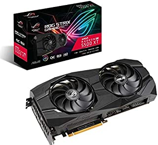 ASUS ROG Strix AMD Radeon RX 5500XT Overclocked 8G GDDR6 1440p HDMI DisplayPort Gaming Graphics Card (ROG-STRIX-RX5500XT-O...