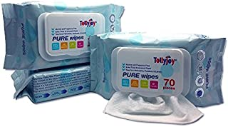 Tollyjoy Pure Wipes, 70ct (Pack of 3)