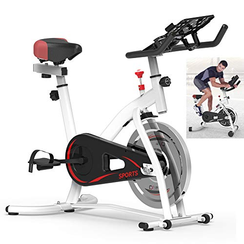 Best Bargain BEIAKE Spinning Bike with Resistance Adjustment Indoor Sports Exercise Bike Home Multi-...