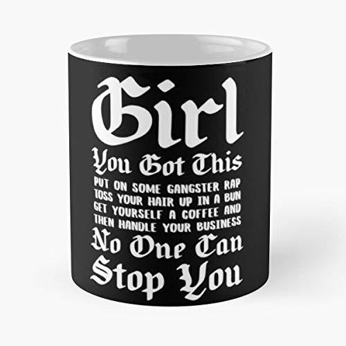 MOEBE Girls Inspirational Motivational Handle It Fit This You Womens Got La Mejor Taza de café de cerámica de mármol Blanco de 11 oz