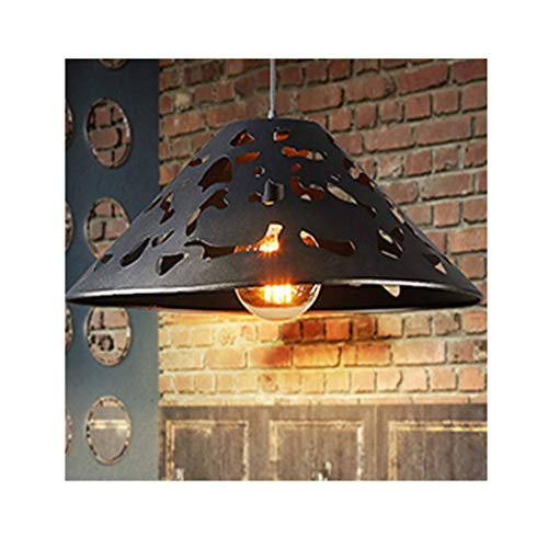 PLLP Lámpara Lámparas de techo Lámpara de araña, Hierro forjado de una sola cabeza E27 * 1 Lámpara de fuente de luz, Retro Barra nostálgica Pasillo Iluminación creativa Lámpara de techo