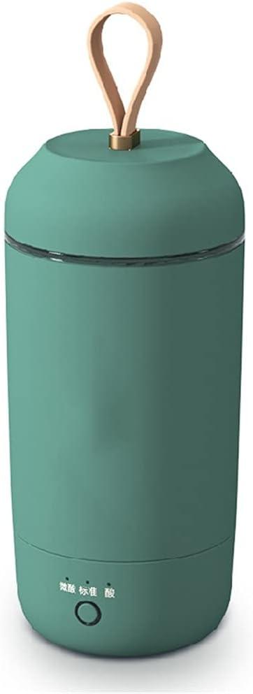 SHYPT Máquina de yogur portátil 280ML Taza de yogur automática Máquina de fermentación de yogur Taza de desayuno multifuncional (Color : Green, Size : 77 * 77 * 210mm)