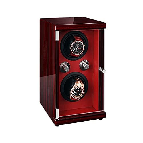 XLAHD Enrollador de Reloj automático, Caja de enrollador de Reloj Doble automático, 5 Modos de rotación silenciosa, Rotación controlada Individualmente, Rectángulo de 2 Posiciones de enrollador