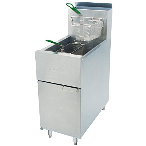 Dean SR42G Super Runner Gas Fryer - (1) 43-lb Vat, Floor Model, NG - Natural Gas