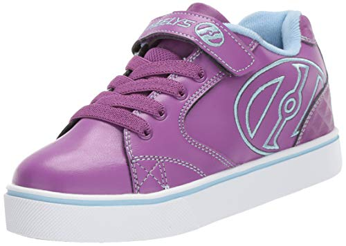 Heelys Girls' Vopel X2 Tennis Shoe, Grape/Light Blue, 2 M US Little Kid