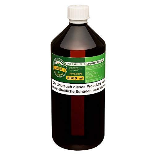 OMG E-Liquid Base 1000ml zum Mischen von E-Liquids, E-Shisha, etc. - Ohne Nikotin (70VG / 30PG)