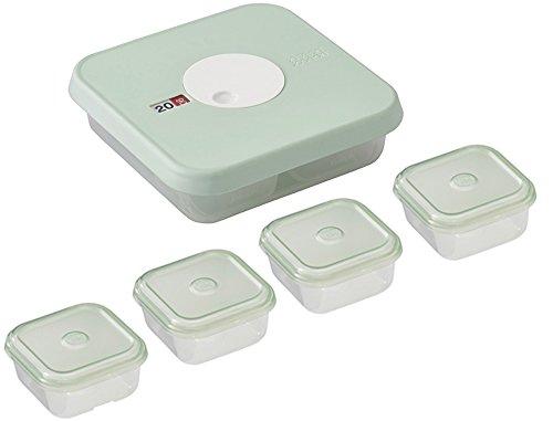 Joseph Joseph Dial Baby 5-Teiliges Set Aus Datierbaren Behältern Für Babynahrung, pastellblau