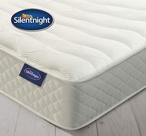 Silentnight Memory Foam Mattress, Zoned Spring System, Cocooning Memory Foam, Quilted Cover, Medium, Double