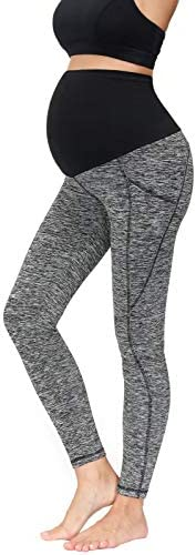 Maternity Warm Fleece Lined Leggings Winter High Waisted Stretchy Thermal Yoga Pants Grey M product image