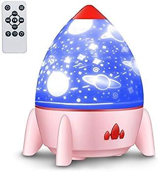 eCandy LOBKIN Night Light Projector with Music Rocket