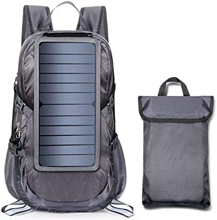 ECEEN Solar Backpack Foldable Hiking Daypack With 5V Power Supply product image
