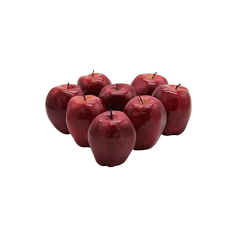 silk flower arrangements yofit artificial apple fake fruit for home kitchen decoration,8 pack
