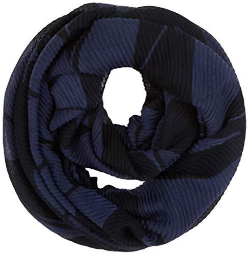 TOM TAILOR Damen Plisseé Loop Winter-Schal, Blau ( 10668 ) , ONESIZE