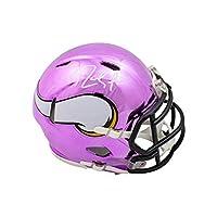 Randy Moss Autographed Minnesota Vikings Chrome Mini Football Helmet - BAS COA