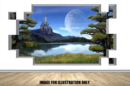 Fairytale Castle 3D Block Smash Blockieren Sie Smash Kinder Jungen WandTattoo Mädchen Wandaufkleber Wandkunst Transfer Aufkleber 3 Größen