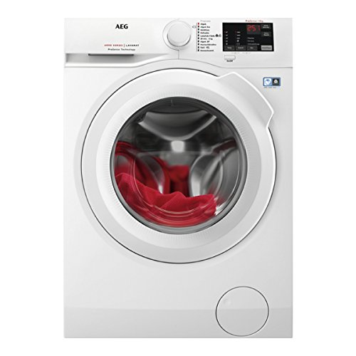 AEG L6FBI821 Independiente Carga frontal 8kg 1200RPM A+++ Blanco - Lavadora (Independiente, Carga frontal, Blanco, Botones, Giratorio, Izquierda, LCD)