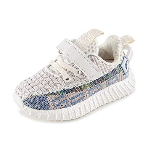 Zapatos Primeros Pasos para Bebés para Niños Niños Niñas 2-5 Años, Pantuflas/Malla Caminar Suela Suave Antideslizante, Ligero Transpirable Casual Estilo Deportivo Beige EU 25