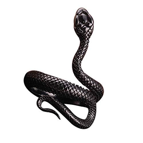 Hiistaring Snake Rings Fashion Animal Rings for Women Snake Ring Vintage Punk Jewelry Rings for Men Adjustable Size