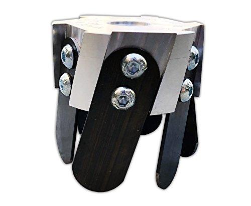 Imbriano Macchine Agricole - Cabezal universal de aluminio con 6 cuchillas para desbrozadora