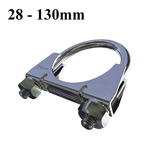 Preisvergleich Produktbild Homesmart Bolzenklemme Universal U / Heavy Duty Auspuff / TV Sky Antenne Rohr Schellen [ 32mm ]