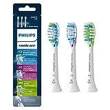 Philips Sonicare HX9073/65 Genuine Replacement Toothbrush Head Variety Pack - Premium Plaque Control, Premium Gum Care & Premium White, Brushsync Technology, White 3- Pack