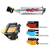 Fahrrad Auspuff Sound System Bike Motor Cycling White Zubehör mit 6 einstellbaren Turbo Motorrad Sound Childrens Motor Sound