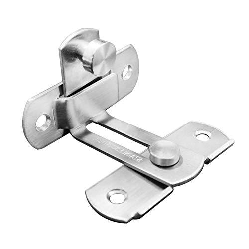 MOVKZACV Cerradura de puerta con tapa de 90 grados en ángulo recto de acero inoxidable con tornillo para puerta y ventana corredera