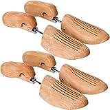 TecTake 800592-2 Paar Lotusholz Schuhspanner, Abhilfe bei drückenden Stellen, Universell für Damen- und Herrenschuhe - diverse Größen (42-43 | Nr. 403009)