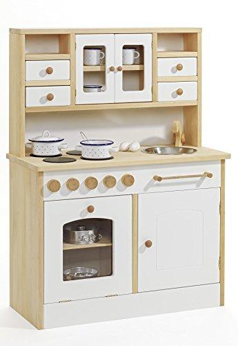 Kinder-Holz-Spielküche 2033 - Weiß - Kinderküche - Herd Spüle Backofen Schrank - 3