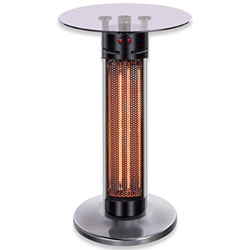 JCJ-Shop 1400W Infrared Patio Heater with Tempered Glass, Carbon Fibre Heaters Have 360° Radiating and Anti-Dumping Function Appy to Outdoor and Bedroom