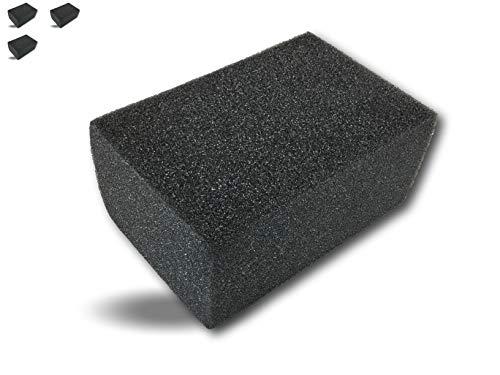 Kibros EPCIM01x3 - Esponja sintética de cimentiro (14 x 9 x 6 cm), juego de 3 baldosas, limpieza alisada de juntas, azulejos de cerámica y aplicación de hormigón encerado y revestimiento decorativo