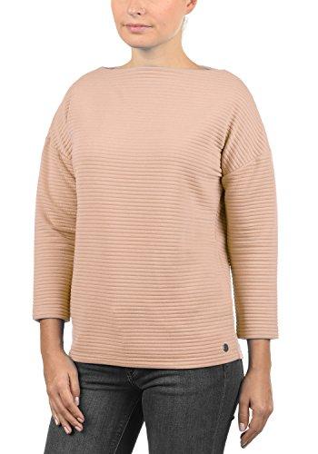 DESIRES Jona Damen Sweatshirt Pullover Sweater Mit U-Boot-Ausschnitt Und 7/8 Arm, Größe:S, Farbe:Mahog. Rose (4203)