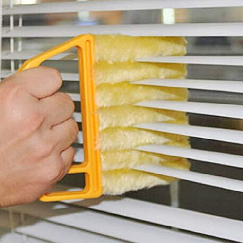 ROSETOR 1 x Rolladenreiniger Bürste waschbar abnehmbar Fenster Klimaanlage Staubwedel mit 7 Lamellen