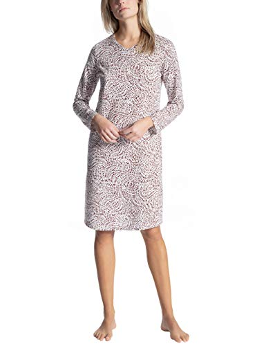 Calida Damen Cosy Cotton Trend Nachthemd, Rot (Zinfandel 239), 34 (Herstellergröße: XXS)