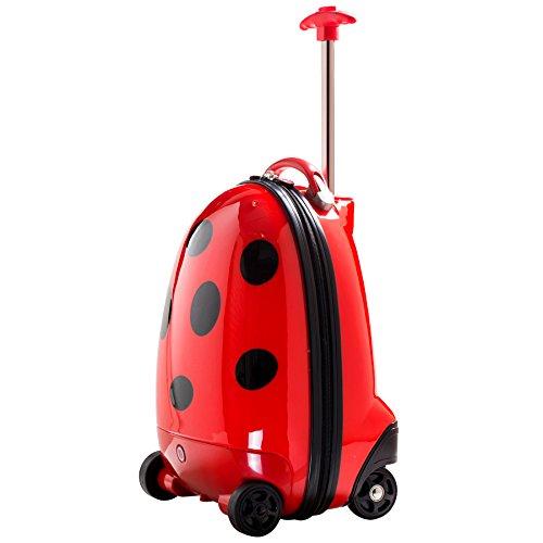 iCozy Kids Luggage Battery Powered RC Remote Control Suitcase - Ladybug