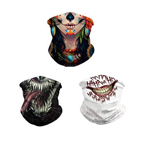 HGYJ Bufanda máscara de Montar,Diadema Multiusos, máscara de Vacaciones, a Prueba de Polvo, protección UV, Pesca, Senderismo, Caperucita, Gorra, Babero Exterior 3PC,Suit3