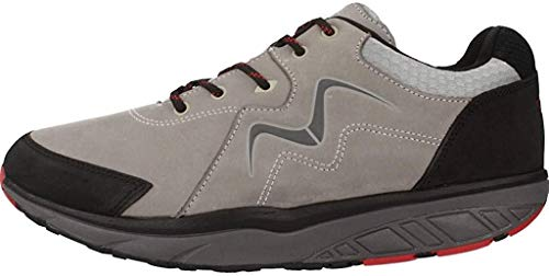 MBT Herren MAWENSI M Sneaker, Grau (Grey/RED 1183U), 42 EU