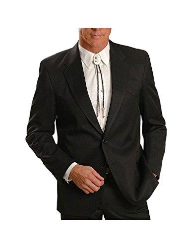 Circle S Men's Lubbock Suit Coat Short, Reg, Tall Black 42 R