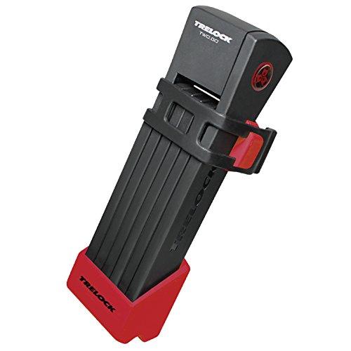 Trelock Faltschloss FS 200-75 Two Go INCL Halter-Bracket, Rot, 75x10x10cm