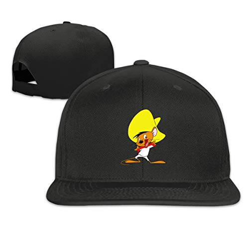 Caiondliil Men's&Woman Speedy Gonzales Design Flat Trucker Hat Adjustable Unisex Black