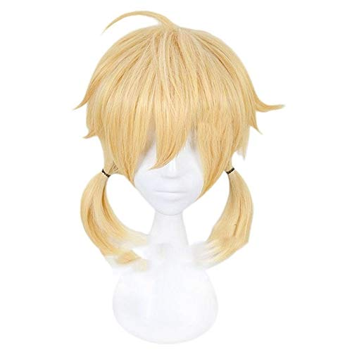 Anime Vocaloid Kagamine Rin Kagamine Len Cosplay disfraz peluca corta rubia amarillo pelo sinttico Halloween carnaval pelucas MZ-001 Kagamine Rin