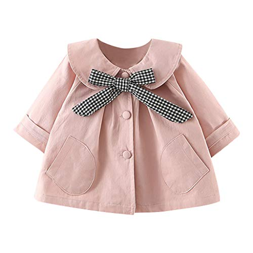 Amuse-MIUMIU Chaqueta de abrigo para niñas, cuello sólido de muñeca a cuadros,...