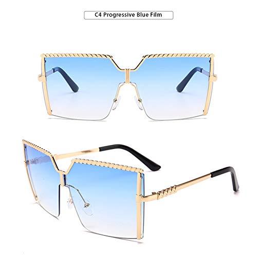 YOUCHOU Gafas de sol para mujer, de lujo de moda extra grandes cuadradas, gafas de sol para mujer al aire libre sombra gafas de