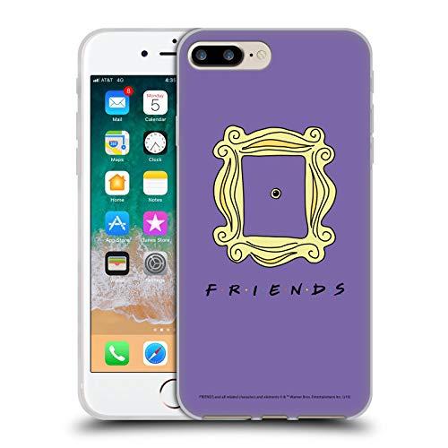 Head Case Designs Ufficiale Friends TV Show Spioncino Cornice Iconico Cover in Morbido Gel Compatibile con Apple iPhone 7 Plus/iPhone 8 Plus