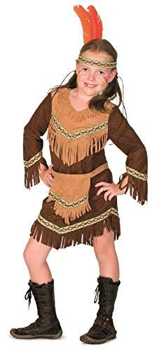 narrenkiste L3100841-152 - Disfraz infantil de india (talla 152), color marrón