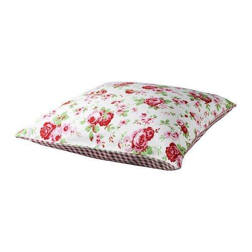 Ikea Rosali - Federa per cuscino, 50 x 50 cm, 100% cotone Blümchen - rosa, weiß