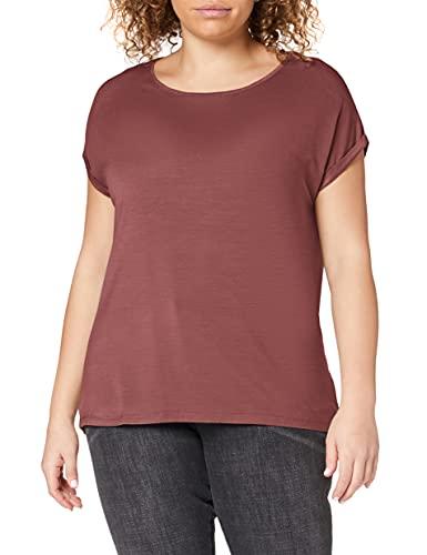 VERO MODA Damen Vmava Plain Ss Top Ga Noos Shirt, Rose Brown, M