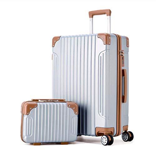 DWEMM 2 Teiliges Koffer Set Hartschalenkoffer Von Reisekofferset Ineinander Stapelbar Gepäck Set Koffer Trolley Hartschale In 5 Farben