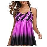 DedSecQAQ Mujer Más Talla Impresión Tankini Traje de baño Traje de baño Ropa de Playa Acolchado Trajes de baño Bikini Copa Grande